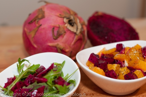 cucina,ricetta,ricette,insalata,frutta,dragon fruit