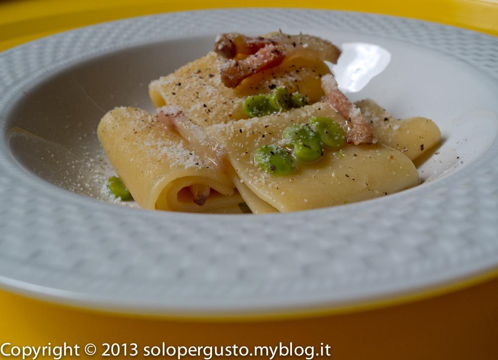 Gricia pigra fave e pecorino, ma per il vino si va in Abruzzo.