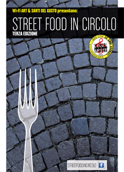 E domani tutti a STREET FOOD IN CIRCOLO, Circolo degli artisti, ROMA.