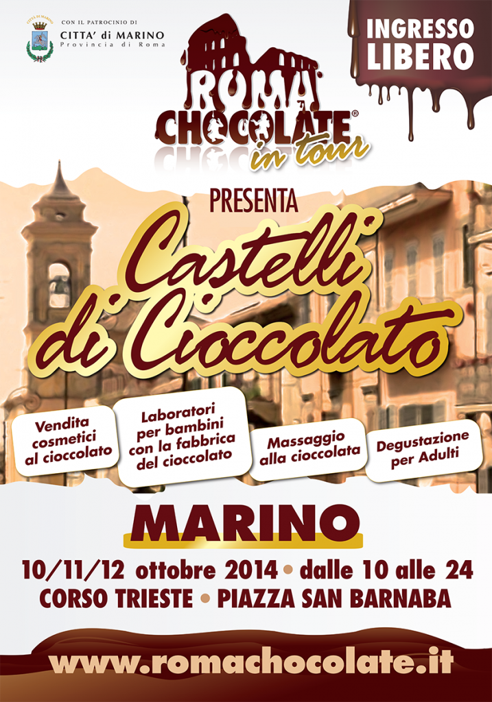 Roma Chocolate Tour a Marino dal 10 al 12 ottobre 2014