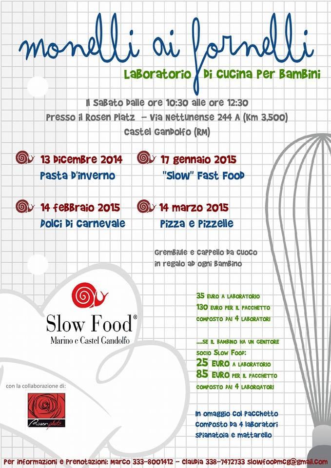 Corsi di cucina per bimbi a Castel Gandolfo: Monelli ai fornelli
