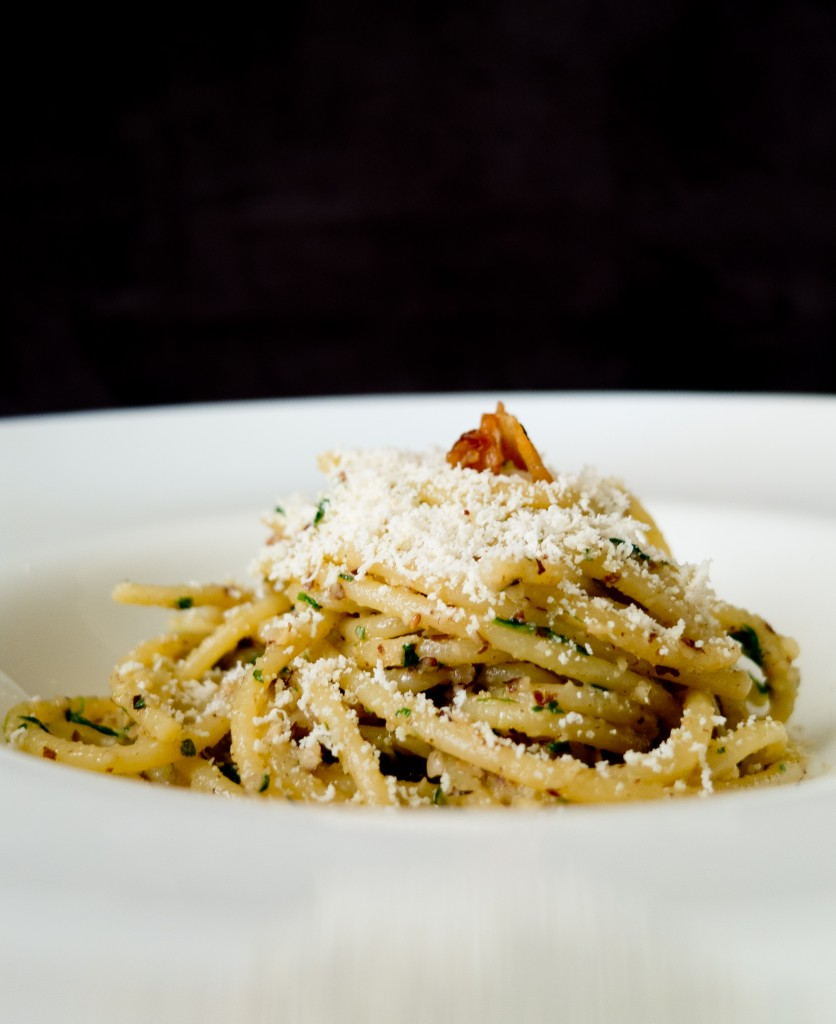 [Ricetta] Spaghetti nocciole, rughetta e ricotta affumicata