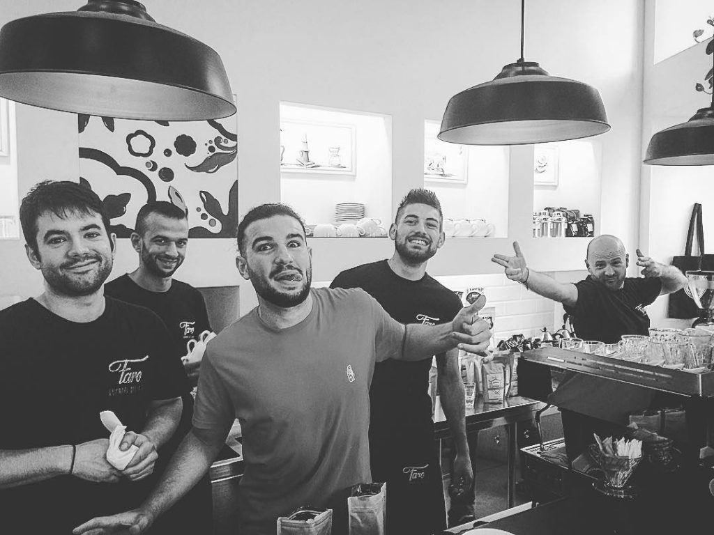 i baristi di Faro con Francesco Sanapo